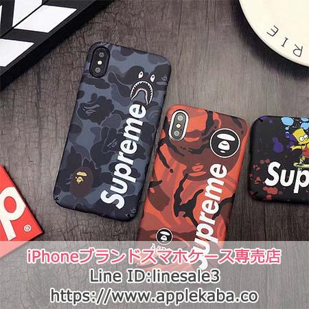 iphonexケース SUPREME AAPE BY A BATHING APE コラボ
