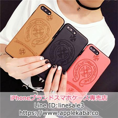CHROME HEARTS iphonexカバー 浮き彫り