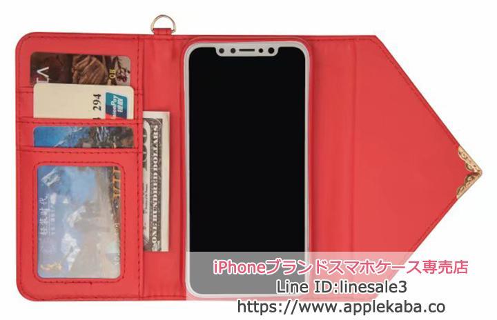 イブサンローラン iPhoneXケース 手帳型 カード収納