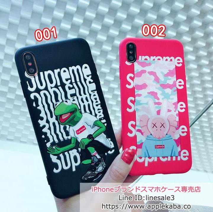 supreme iphonexs max ケース お洒落可愛い 蛙  ソフトカバー 流行
