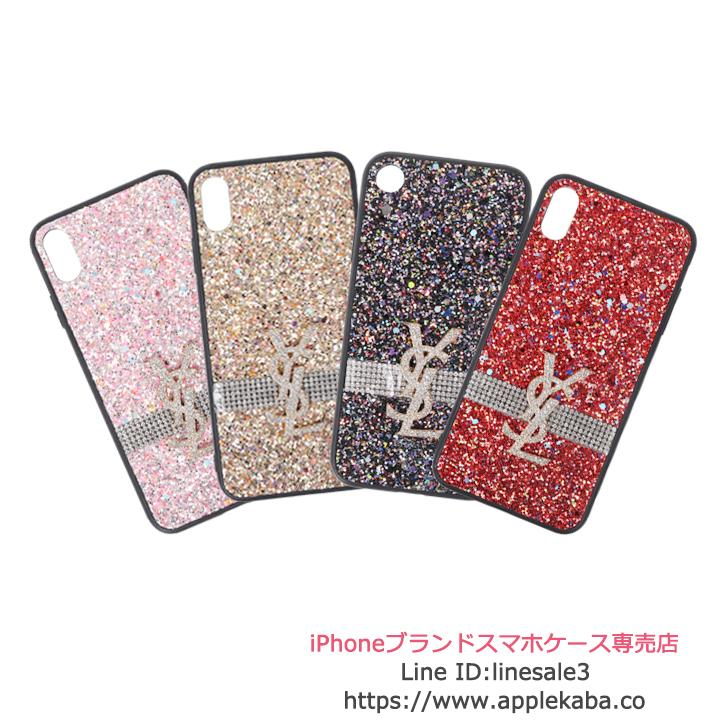 iphonexs ケース ysl キラキラ 贅沢風 iphonexr xケース ブランド